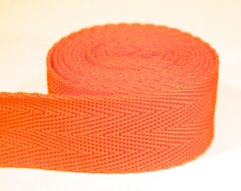 3 yards of 1 inch / 25mm orange webbing, strap (WB24)