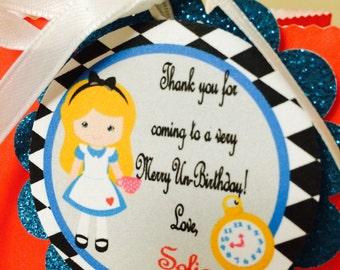 Alice in Wonderland tags , Alice in Wonderland gift tags