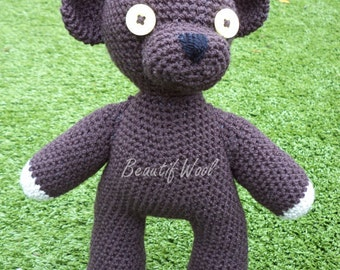 Handmade Crochet Teddy - Mr Bean Teddy - Teddy Bear - Crochet Mr Bean