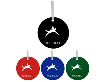 Personalized Custom Swimmer, Swimming Colorful Acrylic Christmas Tree Ornament with Ribbon