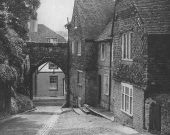Castle Gate Guilford Photograph print black and white English village