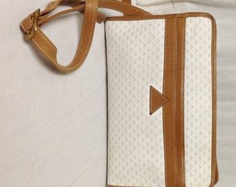 Free Ship Liz Claiborne 1984 PVC & Leather Purse Shoulder Bag