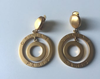 Absolutely gorgeous clips earrings from CELINE like new