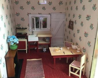 Farmhouse Breakfast Miniature Room Box