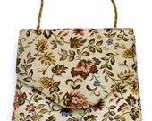Bon Wit Purse, Nicholas Reich, Vintage Handbag,  Floral Brocade, Vintage Purses, Chain Handle, Floral Purse, Brocade Handbag