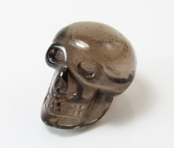 Smoky Quartz Skull Carving, D-233