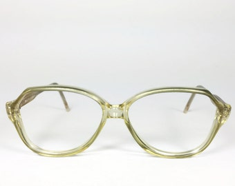 Vintage 1980s Glasses | Clear Rounded 80s Eyeglasses | NOS Vintage Deadstock - Sheri XX