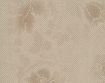 Moda - Puzzle Pieces - Design #1005 - Tonal Light Brown Floral Pattern - Cotton Woven Fabric