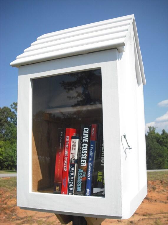 Neighborhood Library Box Book House On A Stick 2 Shelf One