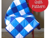 Lap Crib Size Boy or Girl Gingham Buffalo Check Quilt- Sewing Pattern PDF Digital Download Ebook