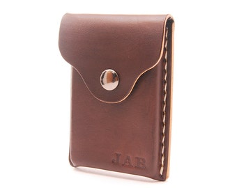 Personalized Handmade Leather Business Card Holder
