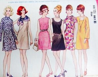1970's butterick vintage dress pattern