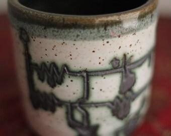 Schematic Mug with Dark Blue Interior