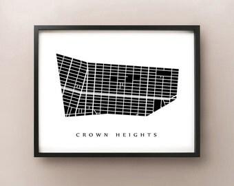 Crown Heights, Brooklyn - New York City Neighborhood Art Print