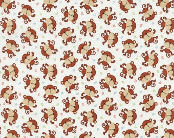Monkeys 100% Cotton Quilting Fabric Fat Quarter
