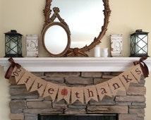 Give thanks banner~Thanksgiving banner