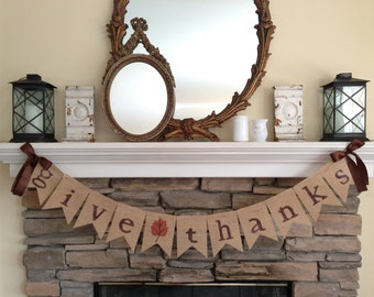 Give Thanks banner~Thanksgiving banner~Give Thanks Sign~Fall Decor~Give Thanks Garland~Fall Sign~Thanksgiving Decoration ~Fall Banners