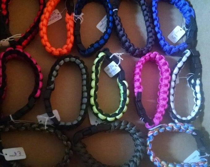 Sturdy Handmade Paracord Bracelets - Various Colors