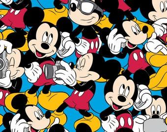 NEW! FLEECE Disney Mickey and Accessories Fabric