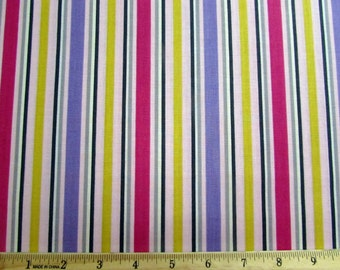 Per yard, Purple, Pink and Yellow Stripe Fabric From Quilting Treasures