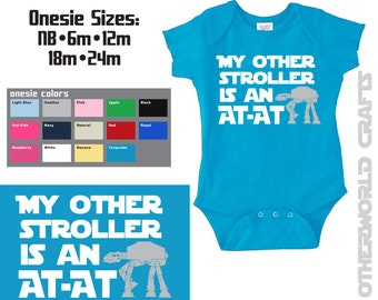 My Other Stroller is an AT-AT Star Wars Baby Onesie / Toddler Shirt