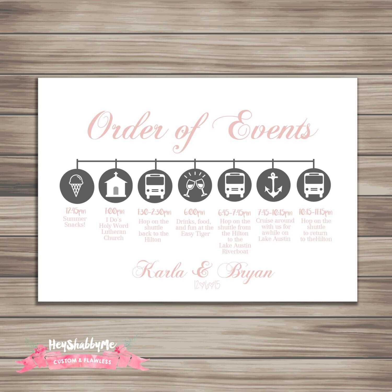 Wedding Table Wedding Timeline custom wedding timeline printable diy wedding