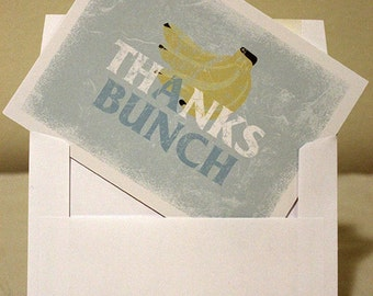 Banana Thank You Cards Thanks A Bunch with Envelopes