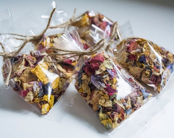 Natural Dried Flower Confetti Bagged