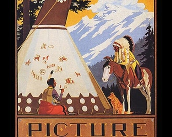 "Native American_tipi from the Southwest  11 X 14""  canvas art print"