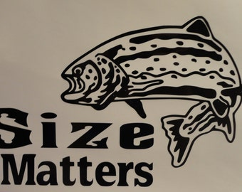 Fishing car decal
