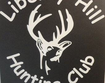 Hunting club vinyl car decal