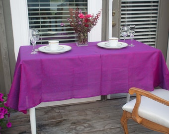 sheer Benaris Indian cotton table cloth