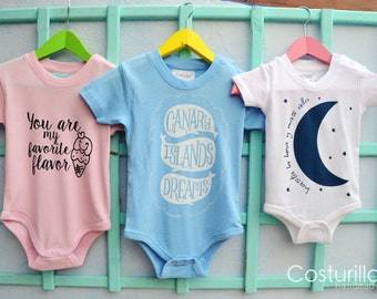 Baby Onesie, Pack of three designs
