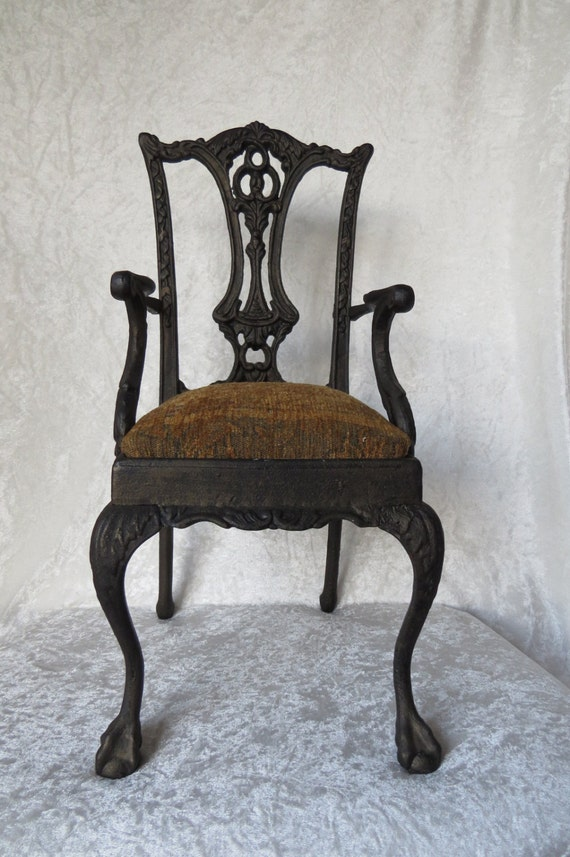 Doll Chair Display Furniture Cast Iron Ornate Chippendale