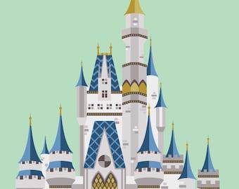 Disney World Cinderella Castle Print