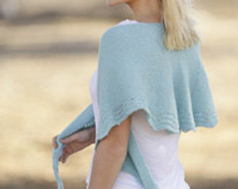 """handknitted shawl  in """"Baby Merino"""" from DROPS, Merino, breathable, warm, soft, made of order"""