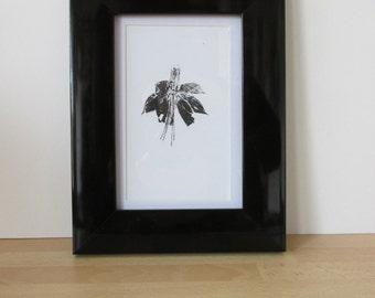 Fuchsia Flower Print - Hand Printed - Limited Edition - Print Only - 101x148mm