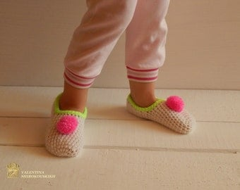 Crochet Sock / Kid's Slippers. Comfortable Shoes