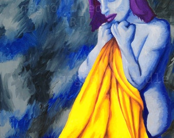 "Original ""Comfort Blanket"" Painting- 18""x 24"""