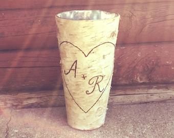 FLASH SALE: Rustic birch bark vase