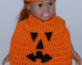The Great Pumpkin--costume for 18 inch doll American Girl doll--crochet pattern