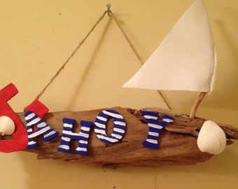 Beach Decor - Ahoy Wall Hanging