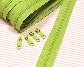 Endless zipper 1 m Apple green