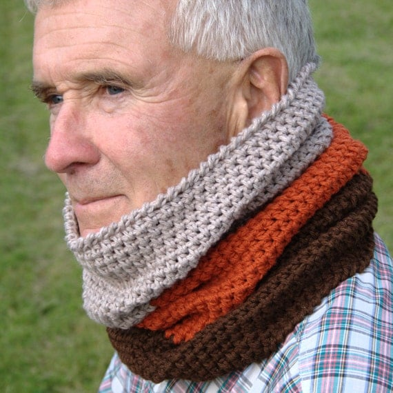Free Knitting Patterns For Men s Cowls : Mens Cowl Pattern Mens Crochet Cowl Scarf Pattern Neck Warmer