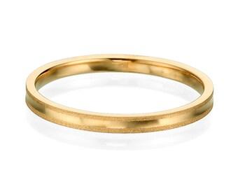 Gentle 2mm 14k Rose Gold Men's Wedding Band
