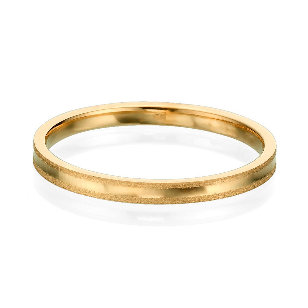 gentle 2mm 14k gold s wedding band