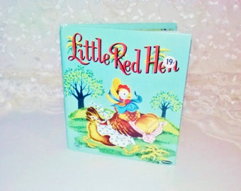 Little Red Hen Children's Story Book Vintage Tell A Tales Whitman Publishing 1953 Beth Wilson Illustrated Like New Cond Collectible Bedtime