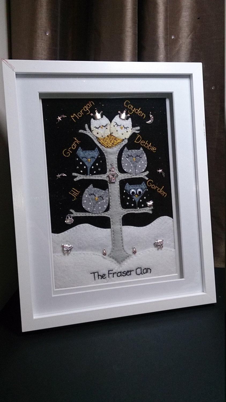 Family Trees Bespoke Hand-Stitched Felt, Keepsake, Gifts for family ...
