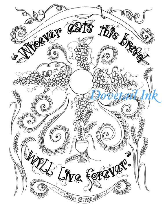 bread of life coloring pages - photo#18