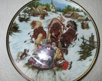 Russian Collectors Plate A2134 Christmas Time Bradex